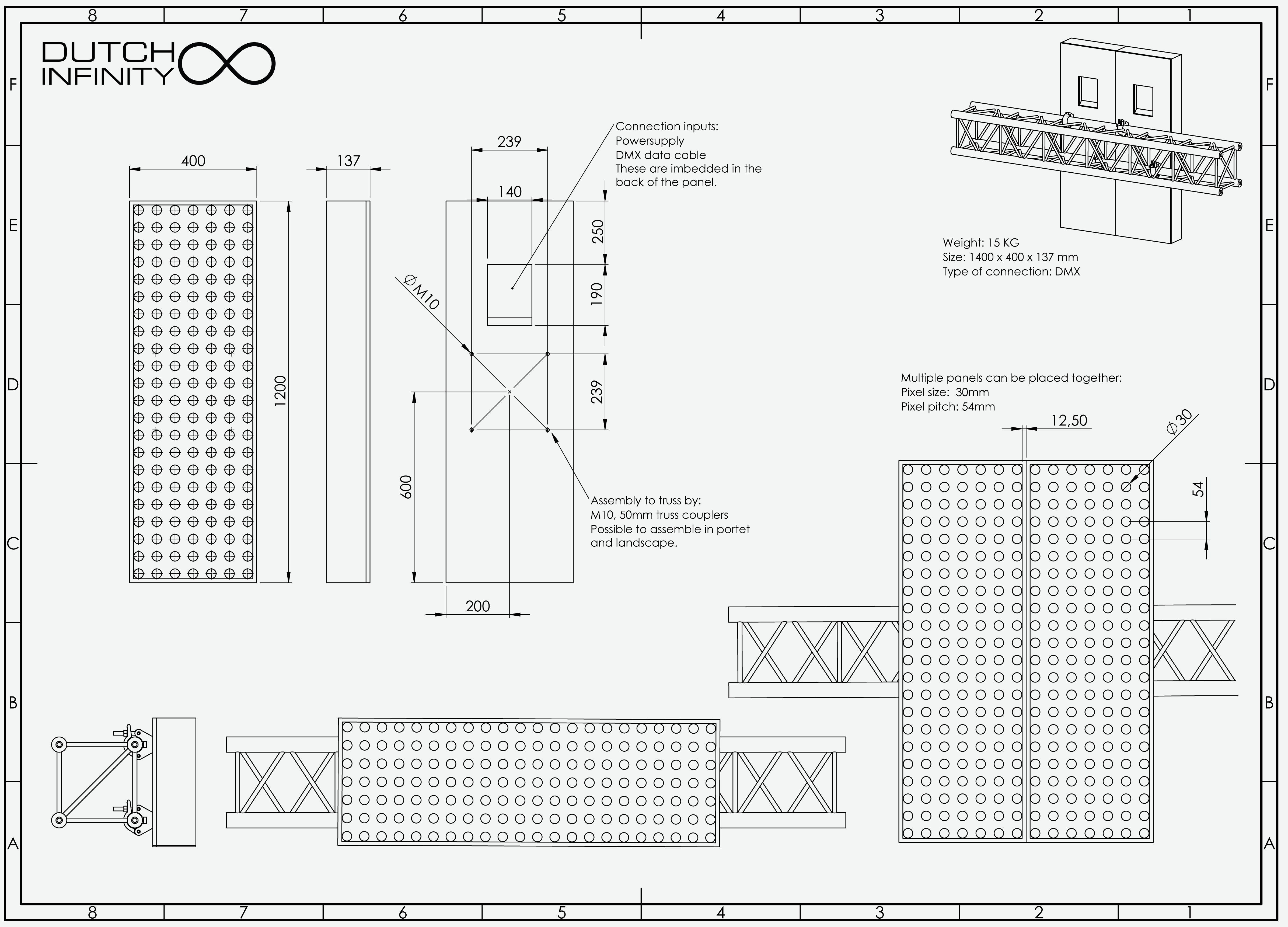 Dutch Infinity DMX panel english